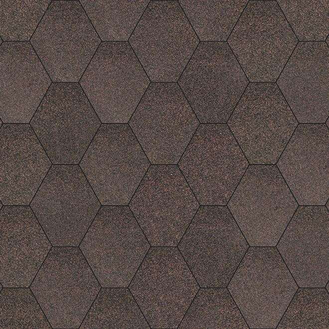 Битумная черепица «Мозаика» «Брауни»