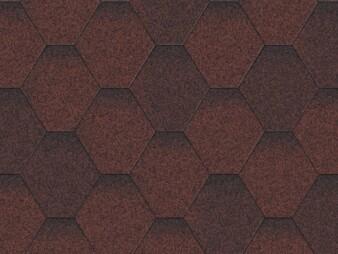 Битумная черепица «Мозаика» «Красная микс»