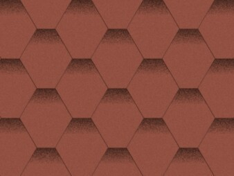 Битумная черепица «Мозаика» «Красный мак»
