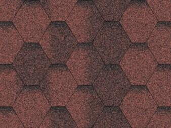 Битумная черепица «Мозаика» «Красная ЭКО»
