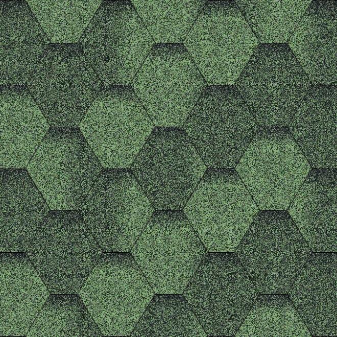 Битумная черепица «Мозаика» «Зеленая ЭКО»