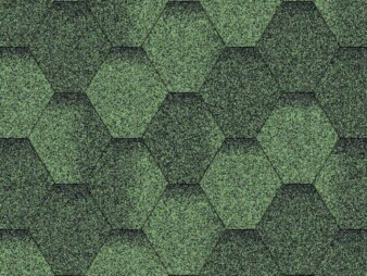 Битумная черепица «Мозаика» «Зеленая микс»