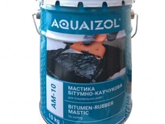 Мастика битумно-каучуковая АМ-10 (ведро 10 кг)