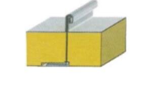 Сэндвич панели CLIP-ROOF (M-ПК) кровельный замок 100 мм Пенополистирол