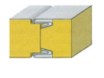Сэндвич панели INTO-LOCK (M-ПС1) стандартный замок 50мм Пенополистирол